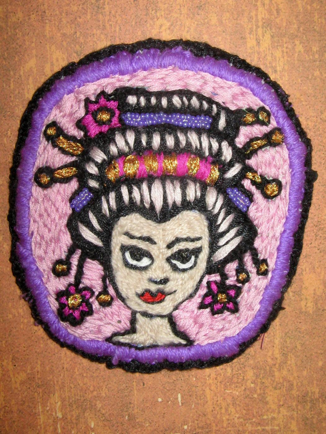 "Tatyana Turanova. Designer Brooch ""Game of the Geisha"""