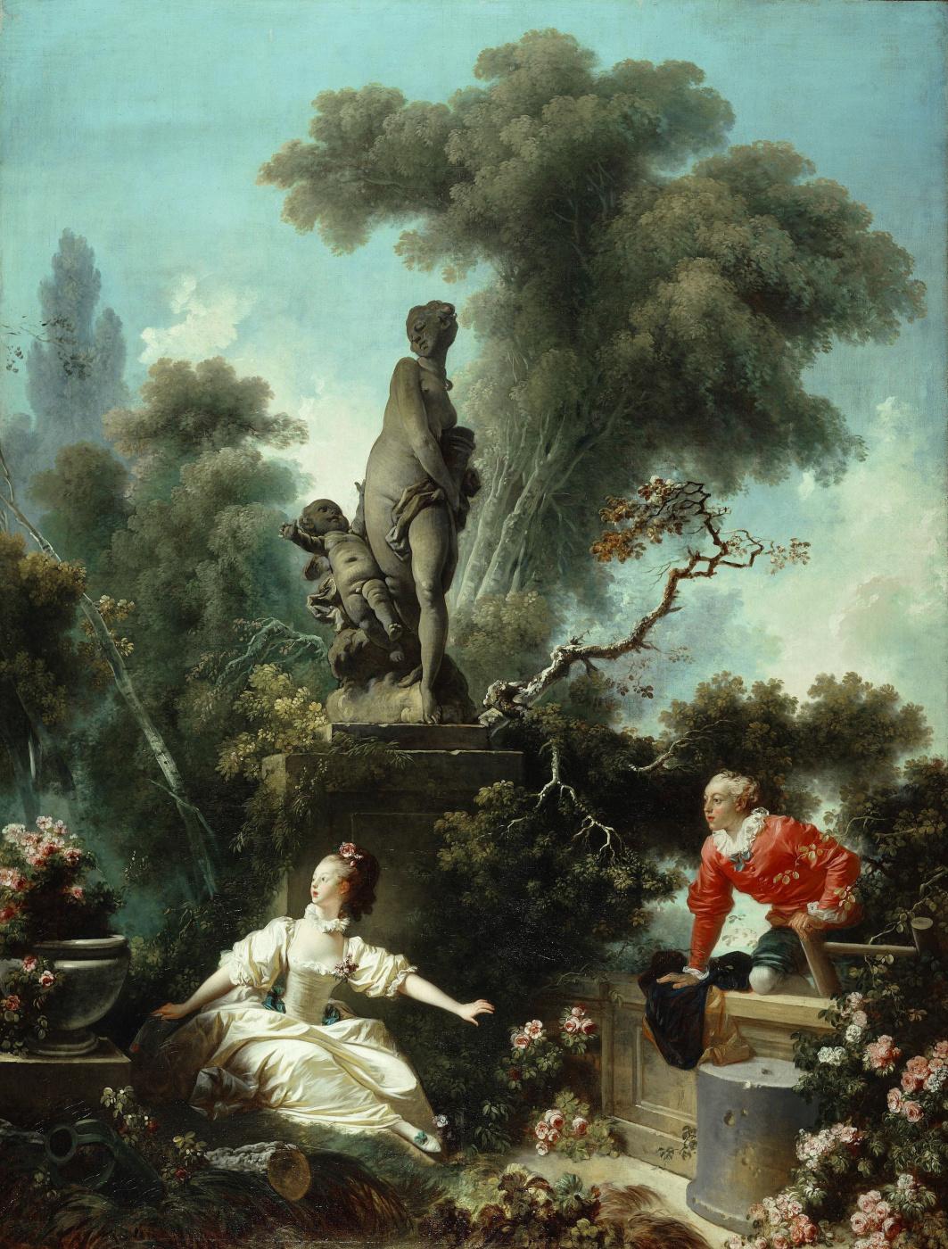 """Jean-Honore Fragonard. Date. From series of paintings """"Love adventure"""""""