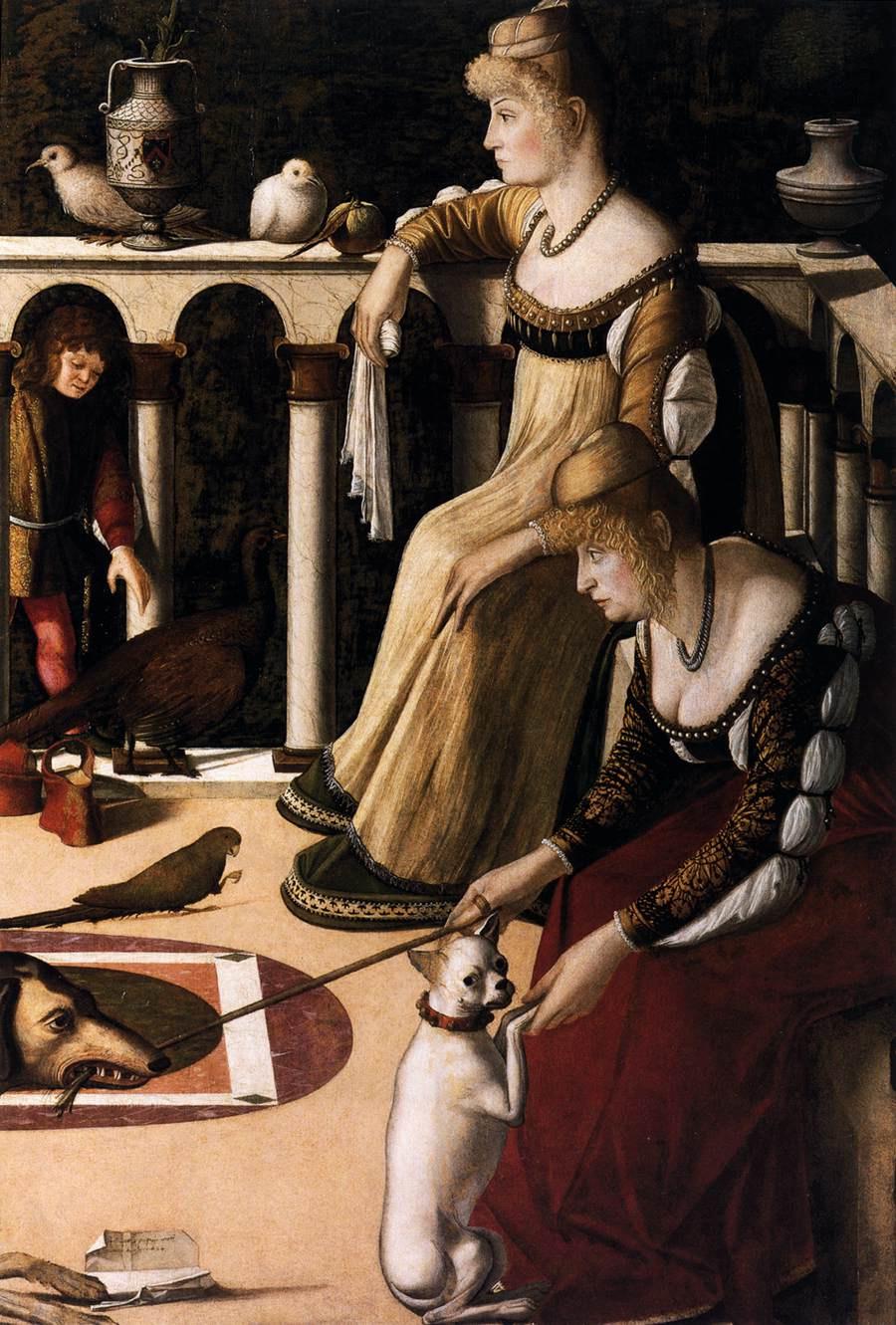 Vittore Carpaccio. Two Venetians (courtesans)