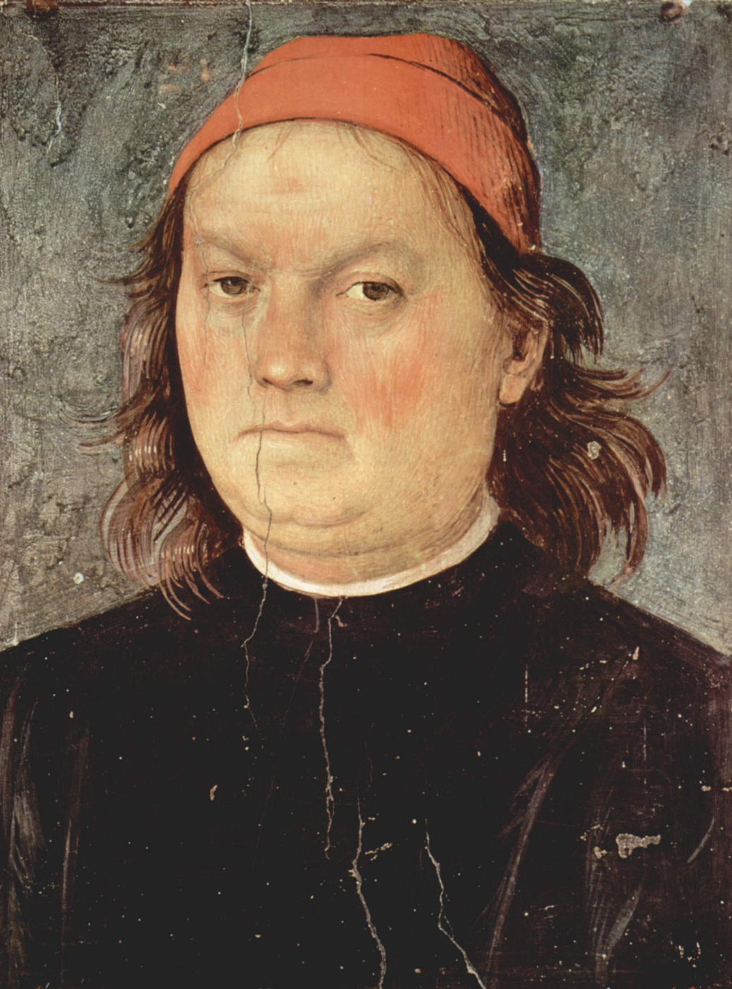 Pietro Perugino. The frescoes of the halls of the techniques of the management Board of the exchange in Perugia. Self portrait