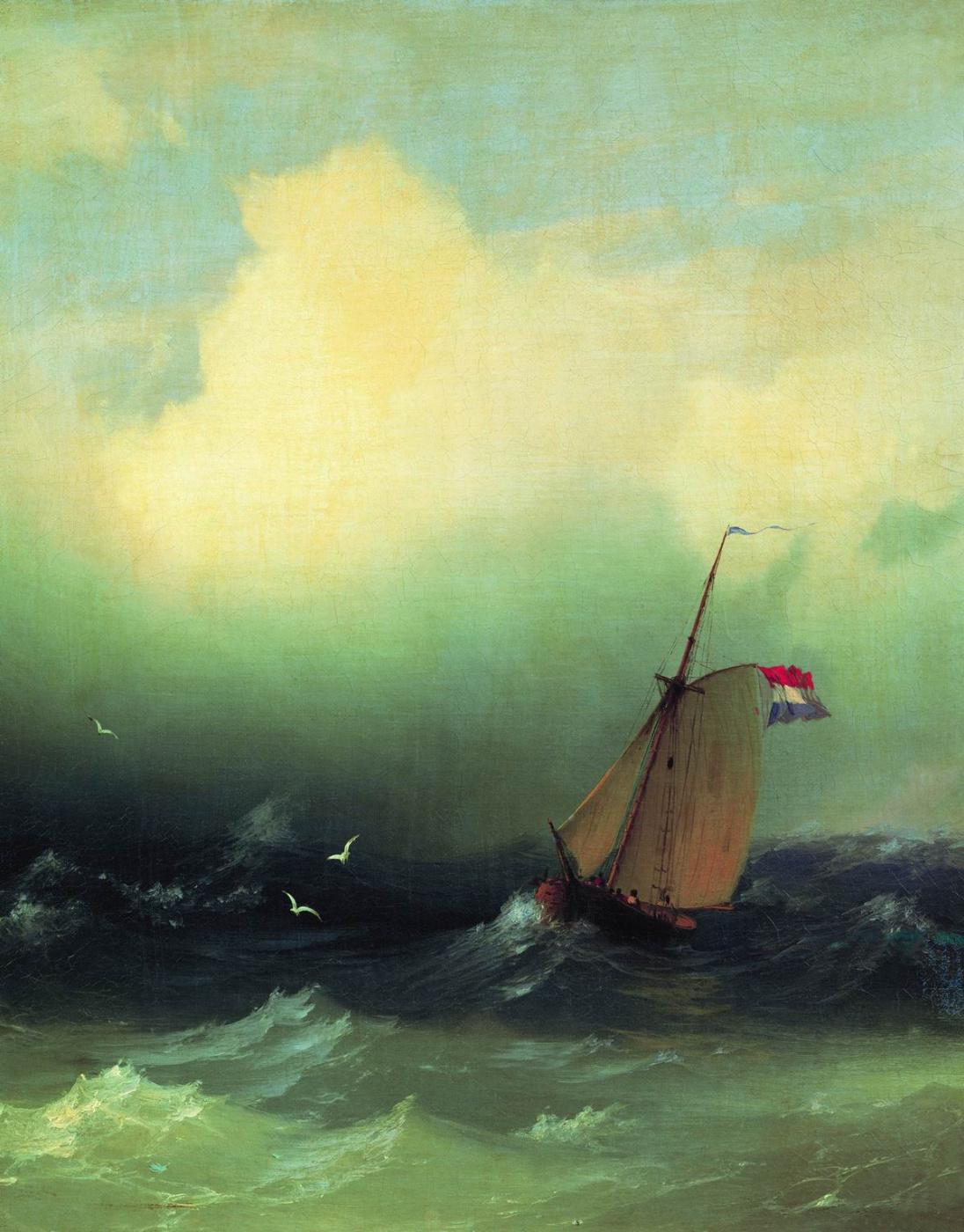 Ivan Aivazovsky. Storm on the sea