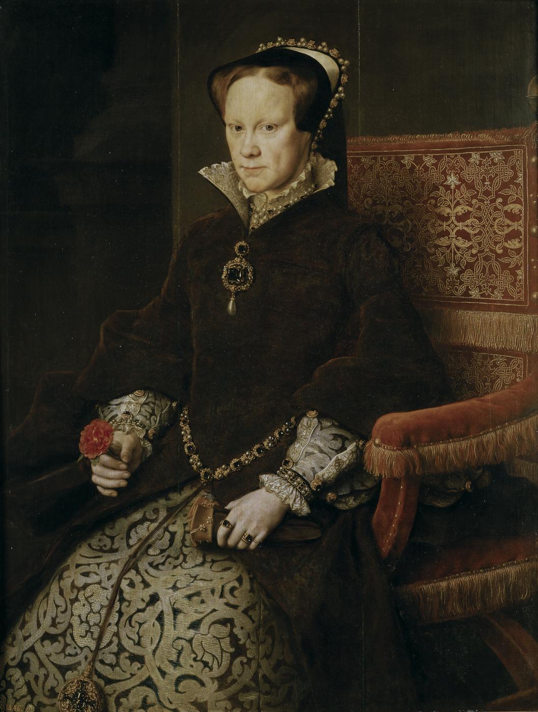 Antonis van Dashorst Mor. Queen of England Mary Tudor, second wife of Philip II