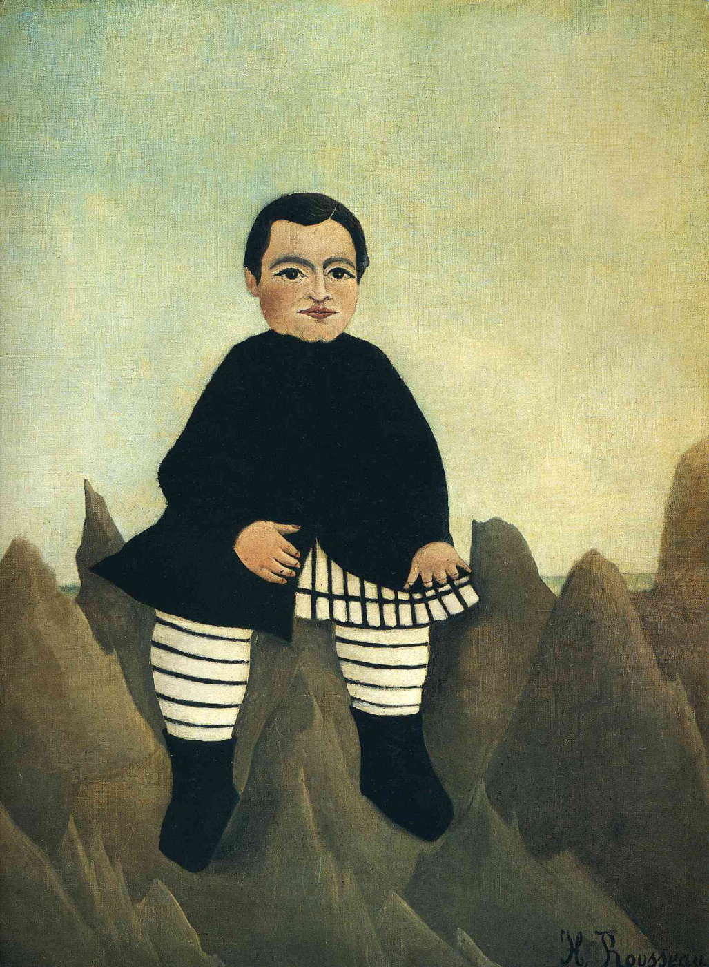 Henri Rousseau. Boy on the rocks