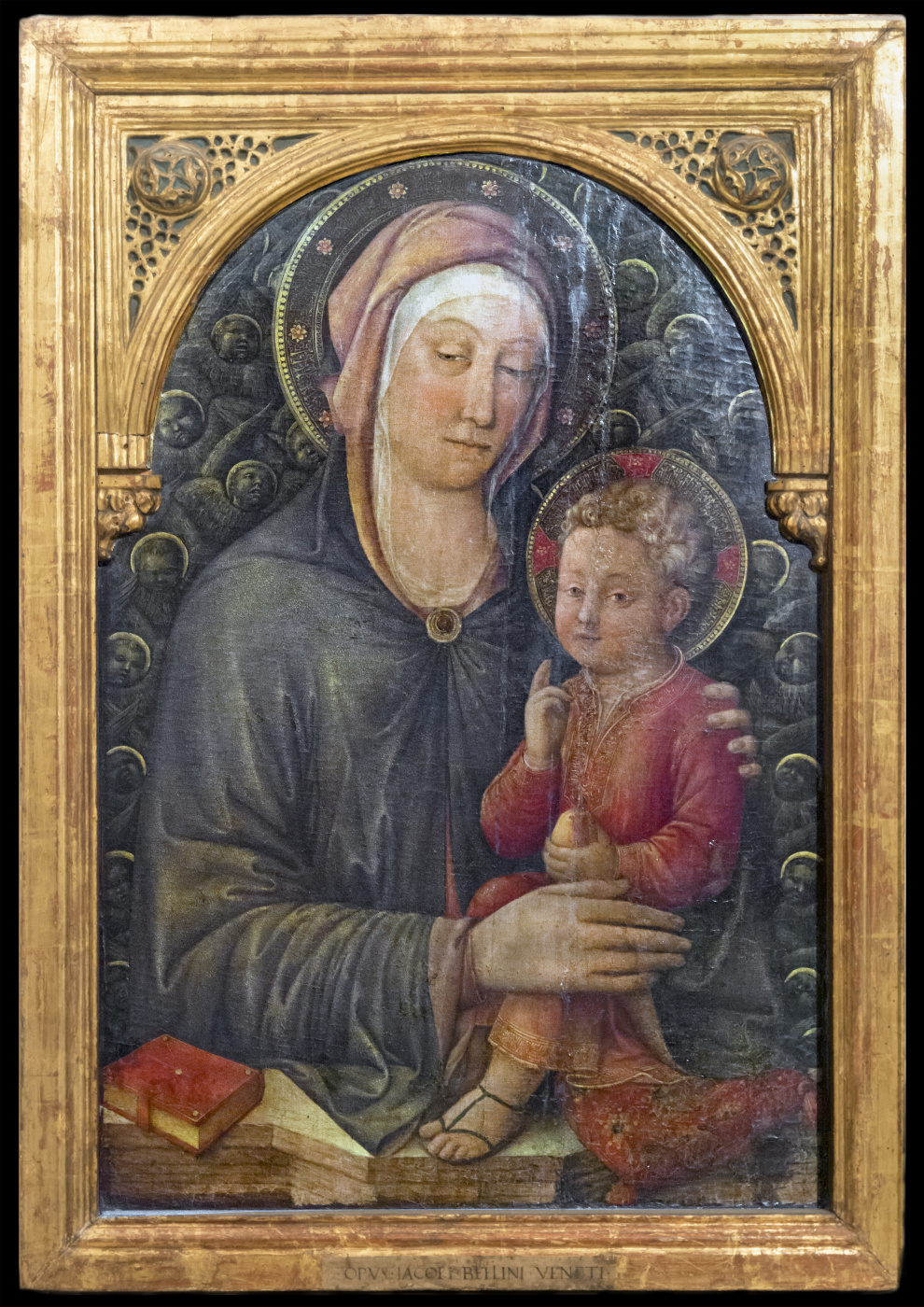 Jacopo Bellini. Madonna with a blessing baby (Madonna with a book)