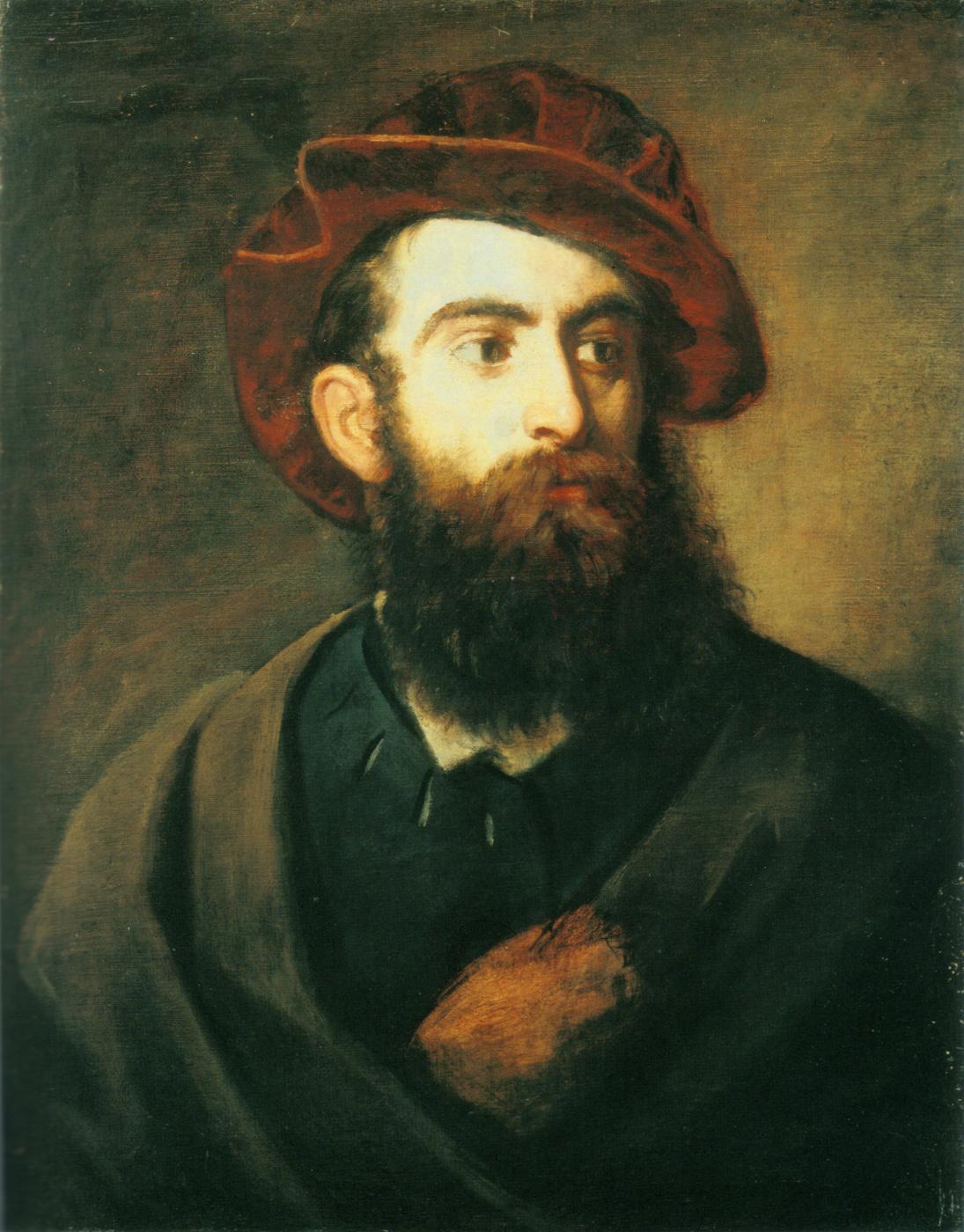 Hans Makart. Self-portrait