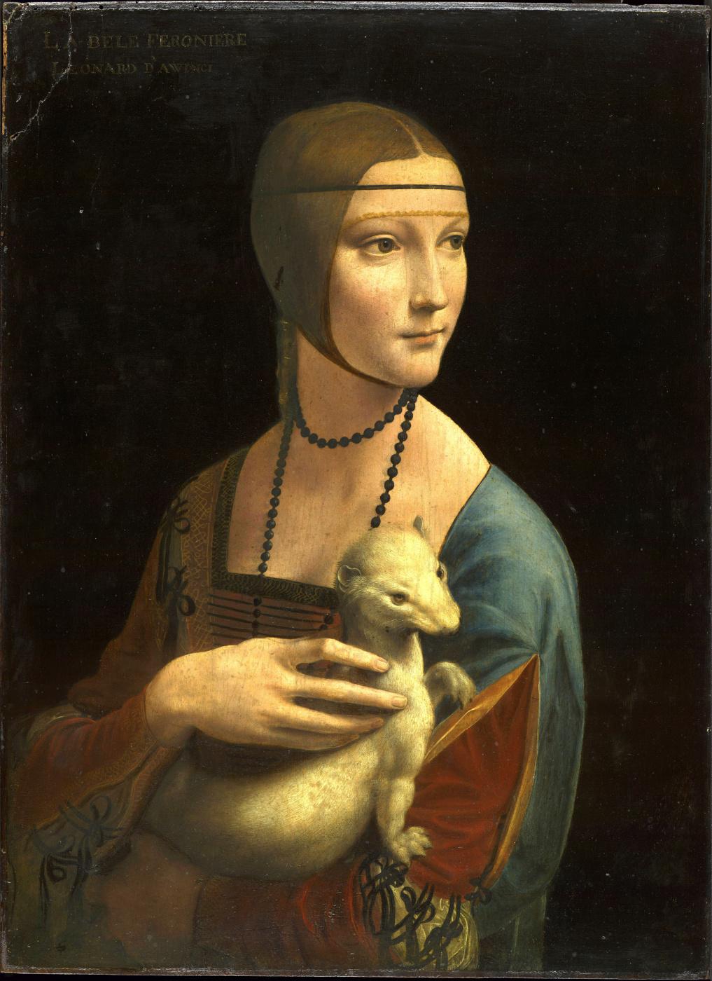 Leonardo da Vinci. Lady with an ermine. Cecilia Gallerani
