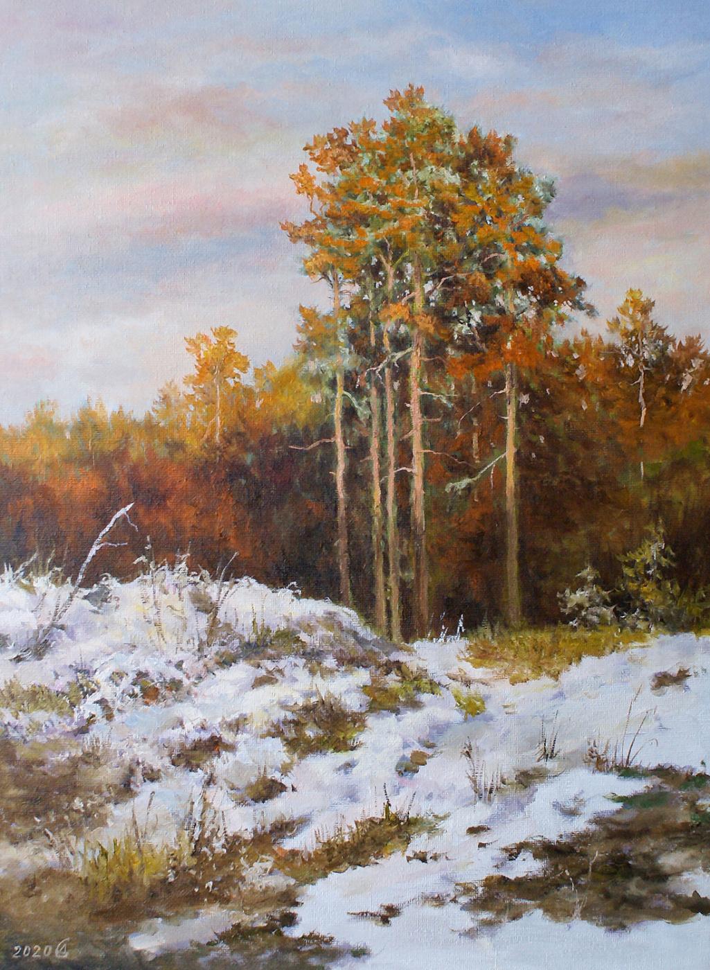 Сергей Владимирович Дорофеев. Evening. First snow