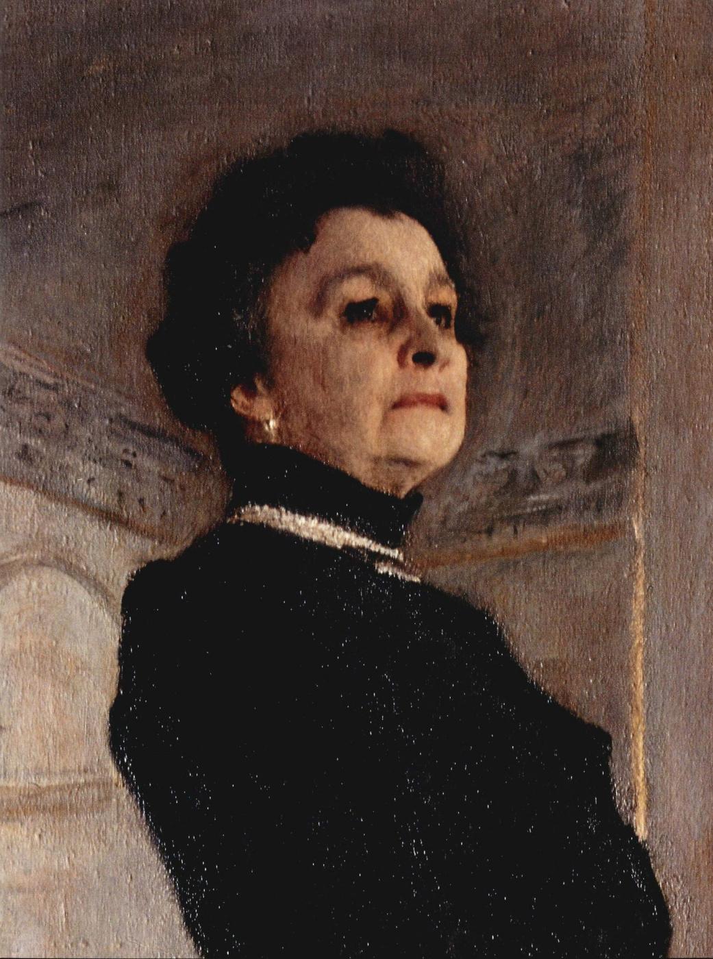 Valentin Aleksandrovich Serov. Portrait Of M. N. Yermolova. Fragment