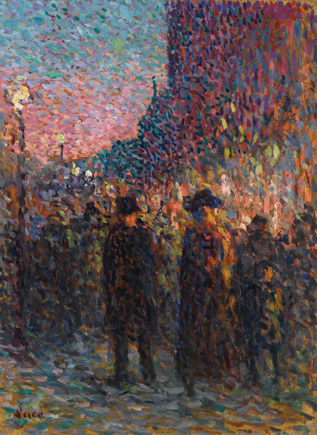 Maximilian Luce. Paris. Boulevard La Nuits