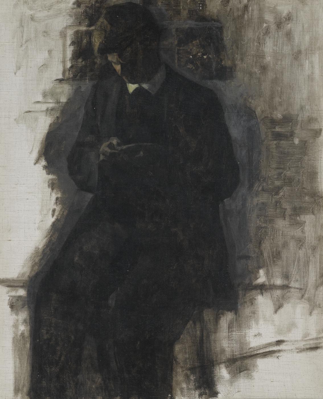 Vilhelm Hammershøi. Numismatist (Portrait of Sven, the artist's brother). Sketch