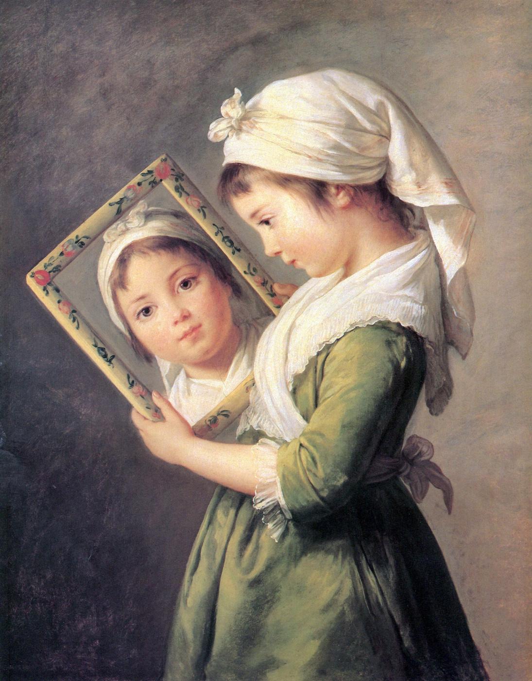 Elizabeth Vigee Le Brun. Portrait of Julie Lebrun, daughter of the artist
