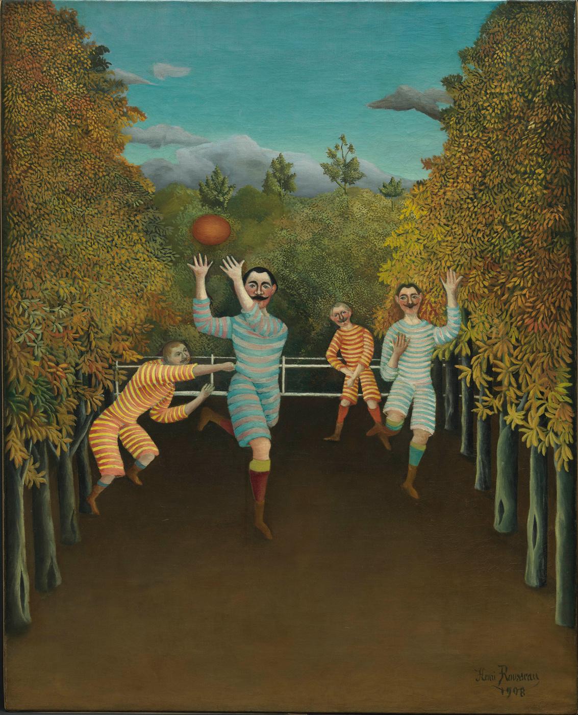 Henri Rousseau. Soccer players