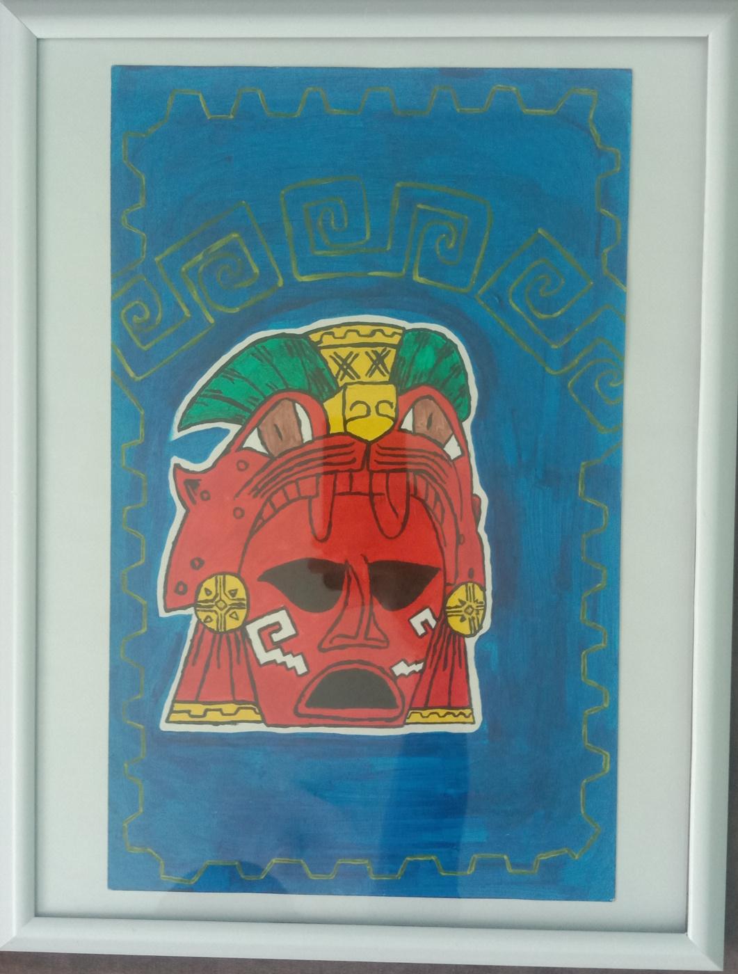 Maxim Alexandrovich Stepochkin. Aztec mask (artifact)