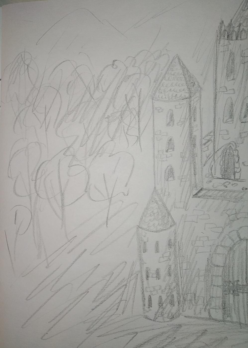 Zina Vladimirovna Parisva. The old castle and the area around it