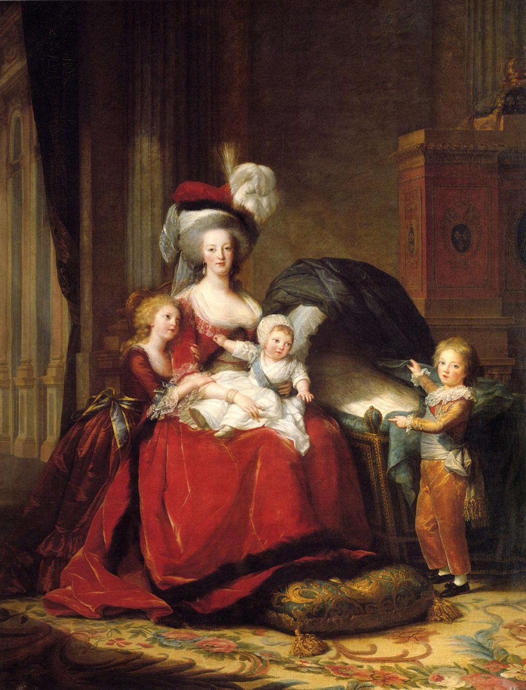 Elizabeth Vigee Le Brun. Marie-Antoinette and her children