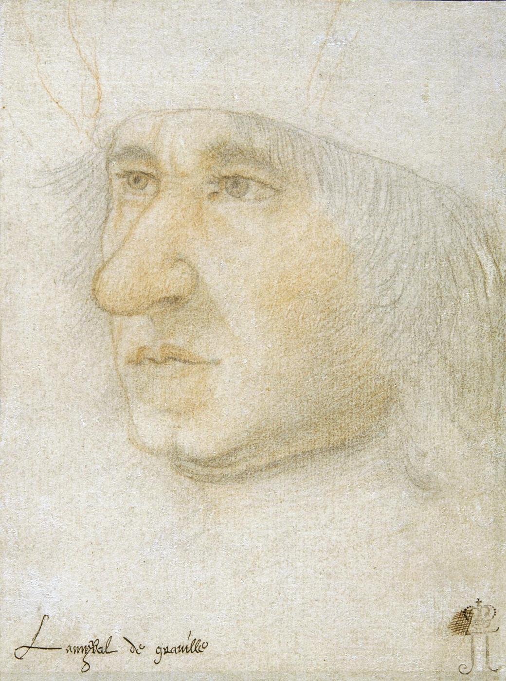 Jean burdishon. Portrait of Admiral de Gravil.