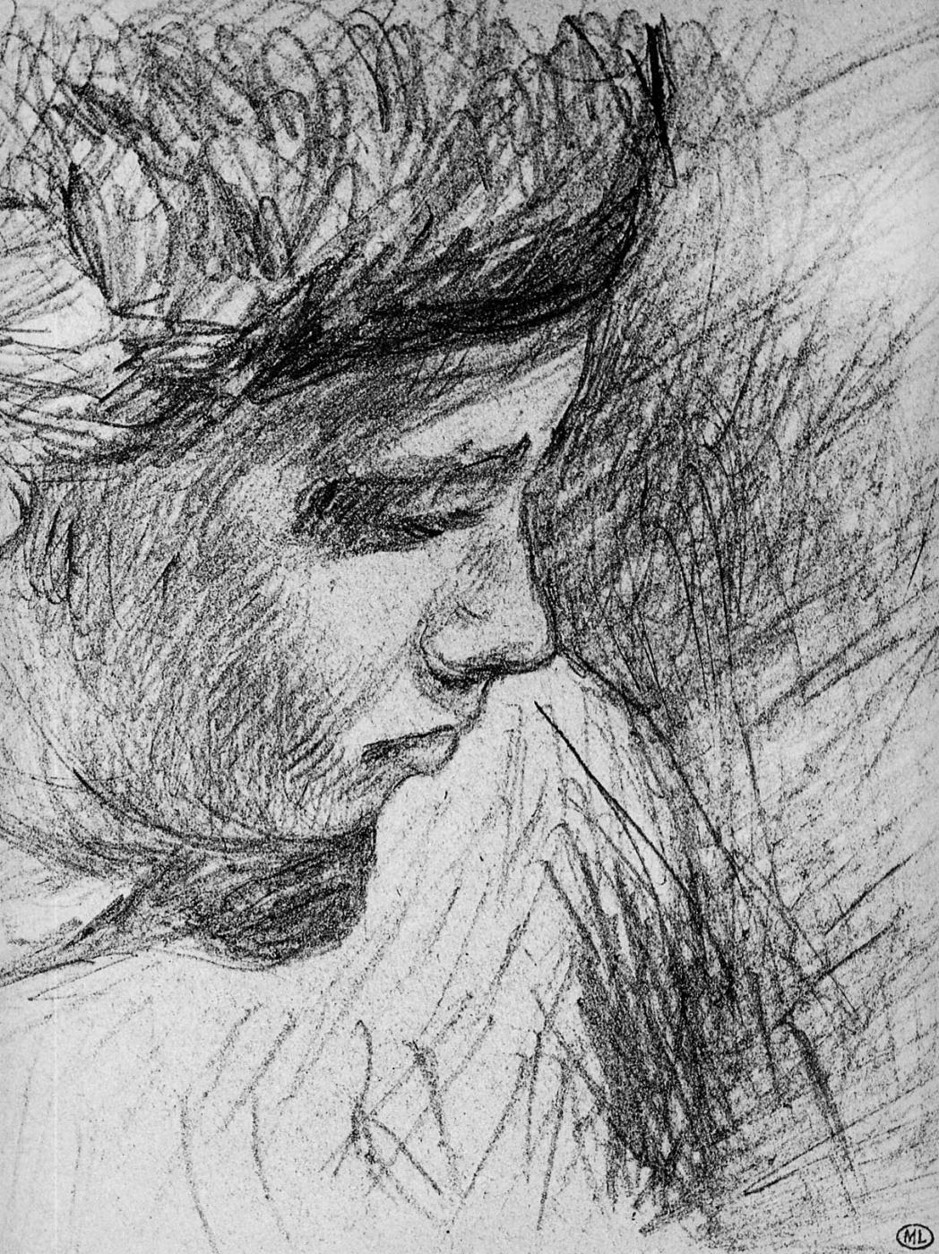Alfred Sisley. Profile boy