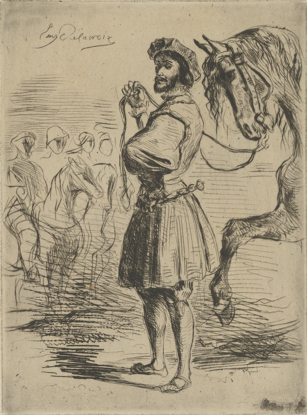 Eugene Delacroix. A nobleman of the time of Francis I