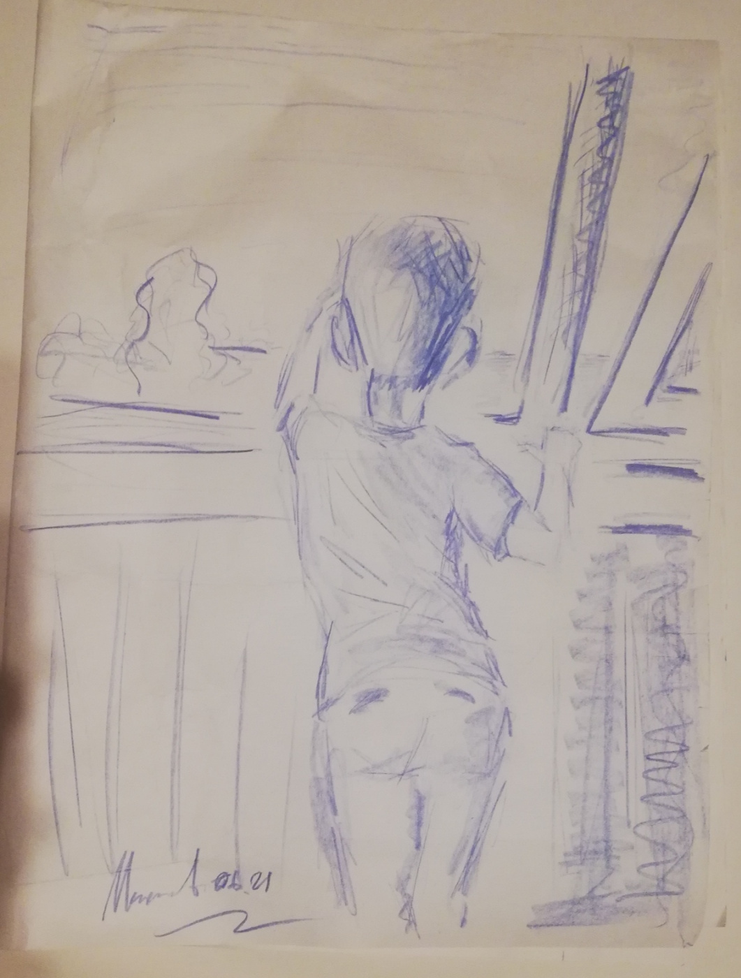 Andrew Markoff. Sketch of the greeter
