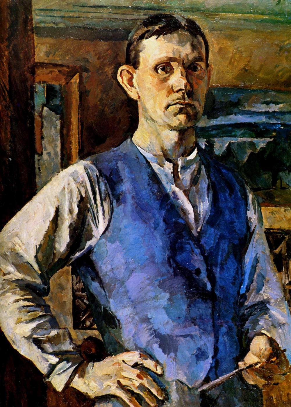 Sergey Vasilyevich Gerasimov. Self portrait in blue vest