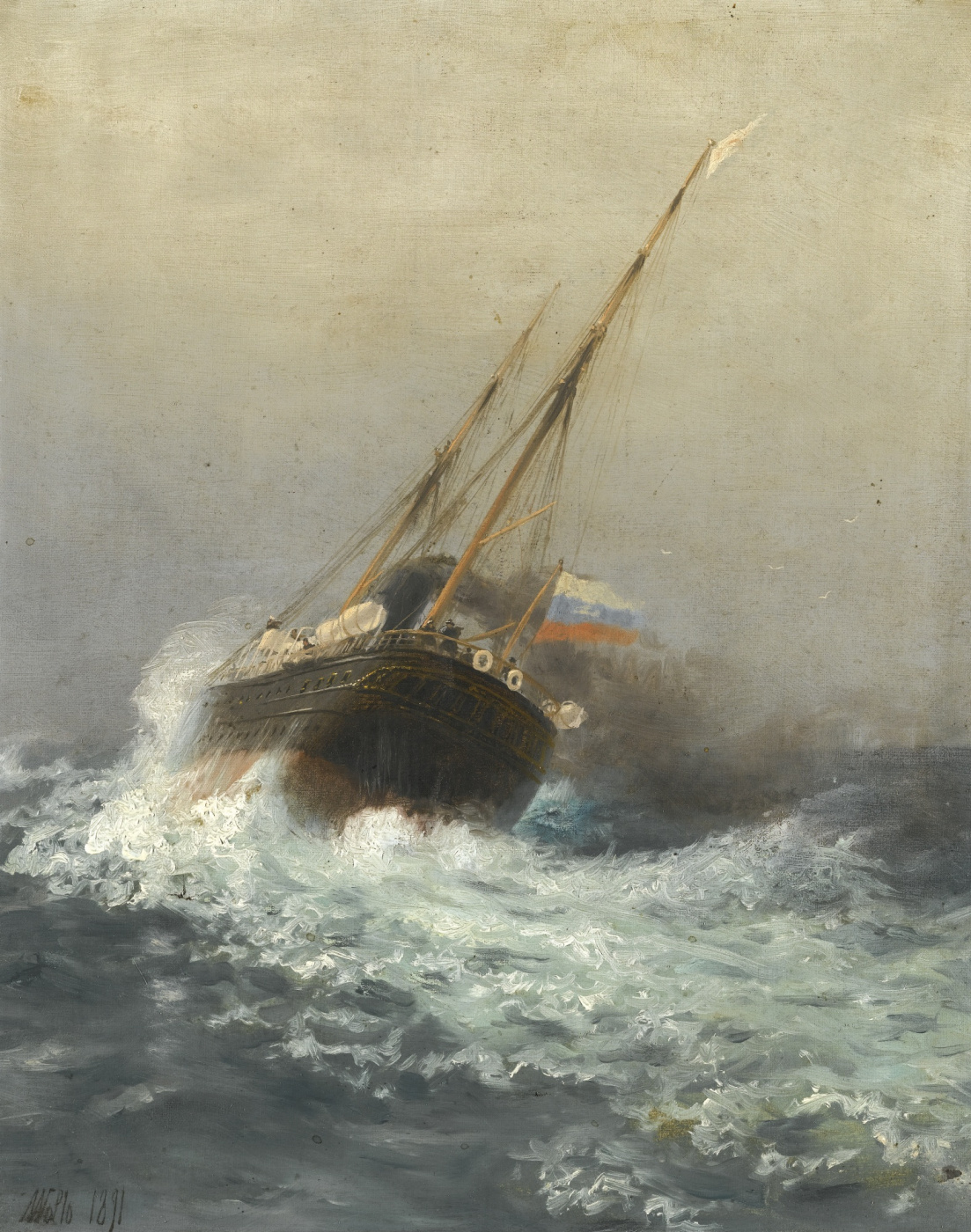 Lev Feliksovich Lagorio. Steamboat on the open sea