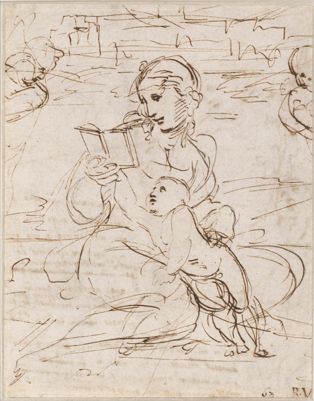 Raphael Sanzio. Madonna with child reading