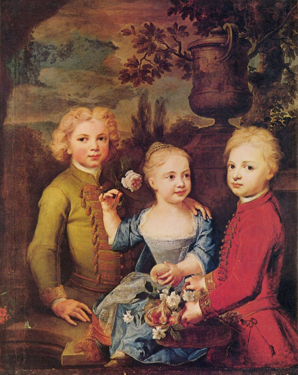 Balthazar Denner. Portrait of the children of Alderman of Bartold During Brakes
