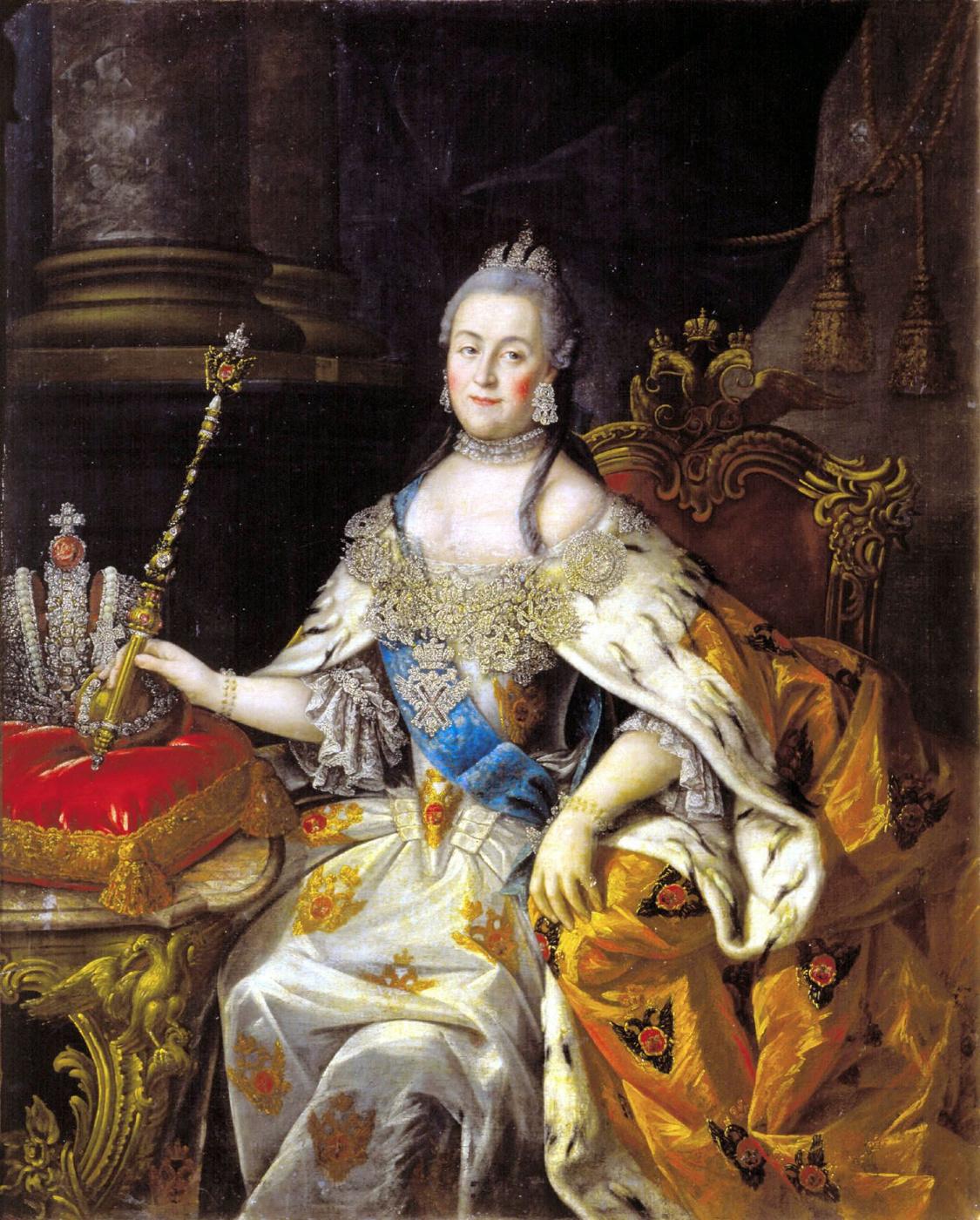 Alexey Antropov. Portrait of Empress Catherine II