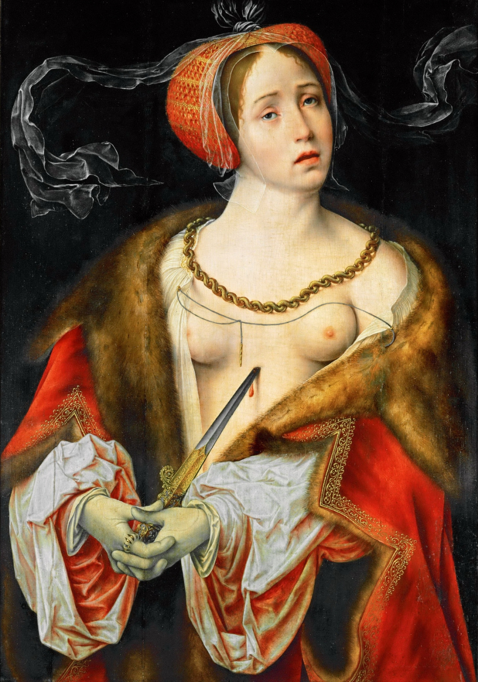 Jos van Kleve. Lucretius. 1520-1525