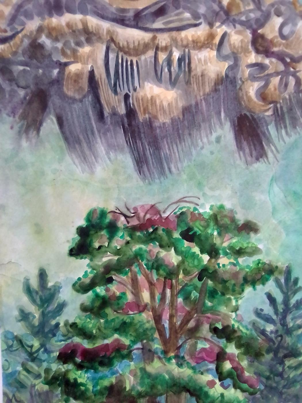 Вячеслав Коренев. Cloud over tree