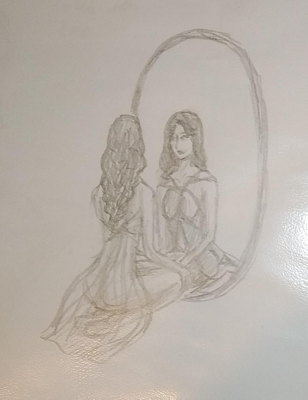 Zina Vladimirovna Parisva. In front of the mirror