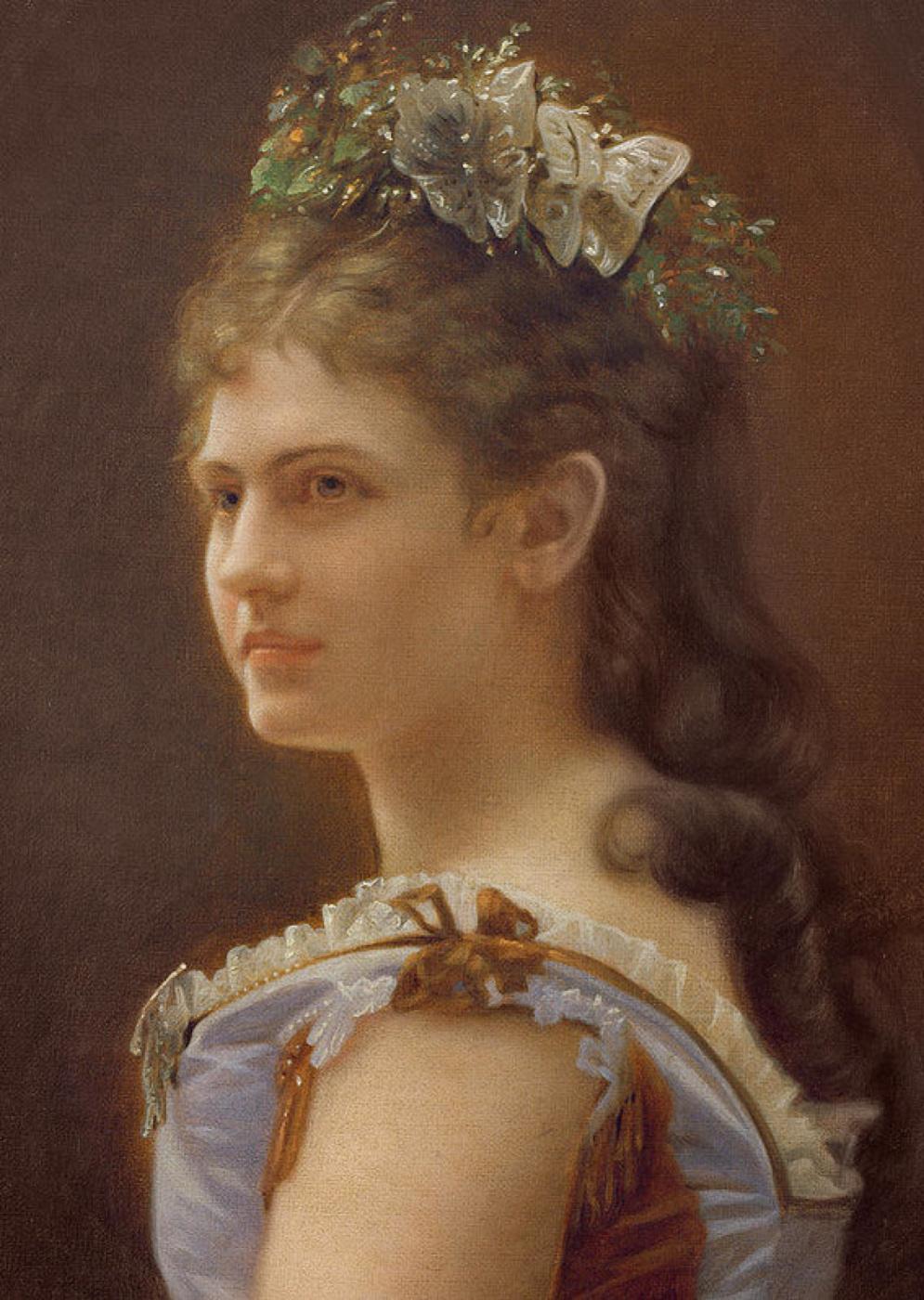Unknown artist. Portrait of Katarina Schratt