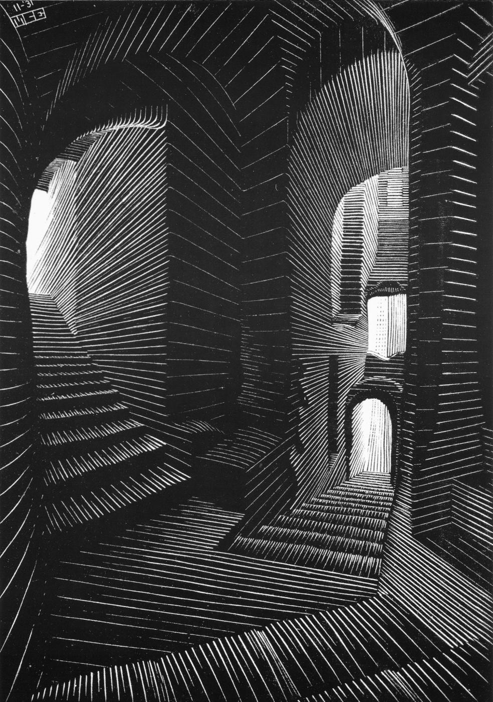 Maurits Cornelis Escher. Covered Alley in Atrani