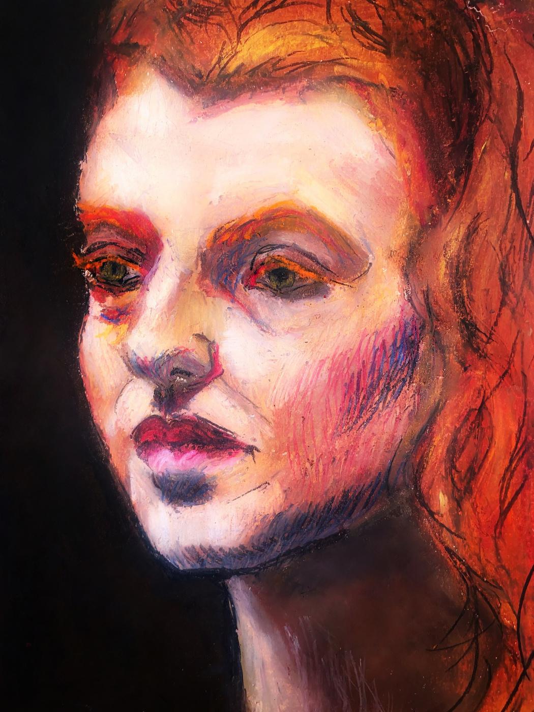 Irina Tabolova. Pastel portrait