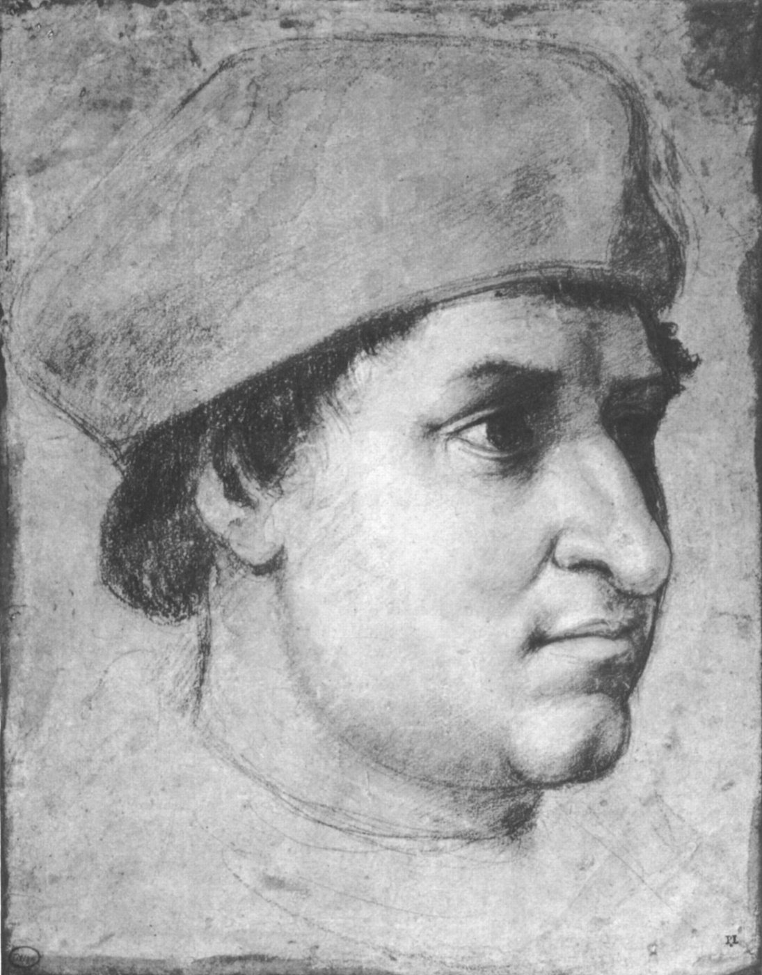 Raphael Sanzio. Portrait of the cardinal. Sketch