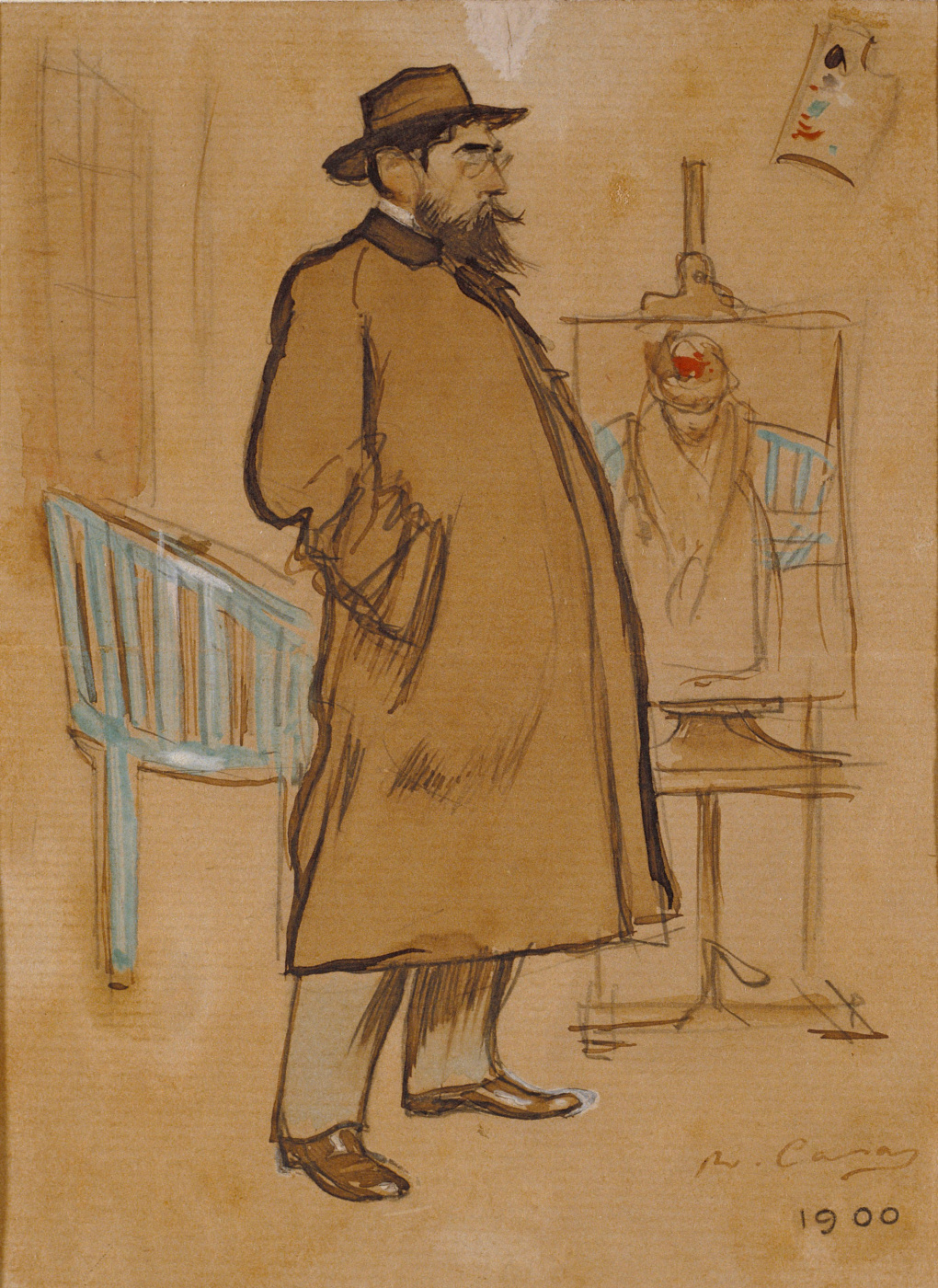 Ramon Casas i Carbó. Self-portrait