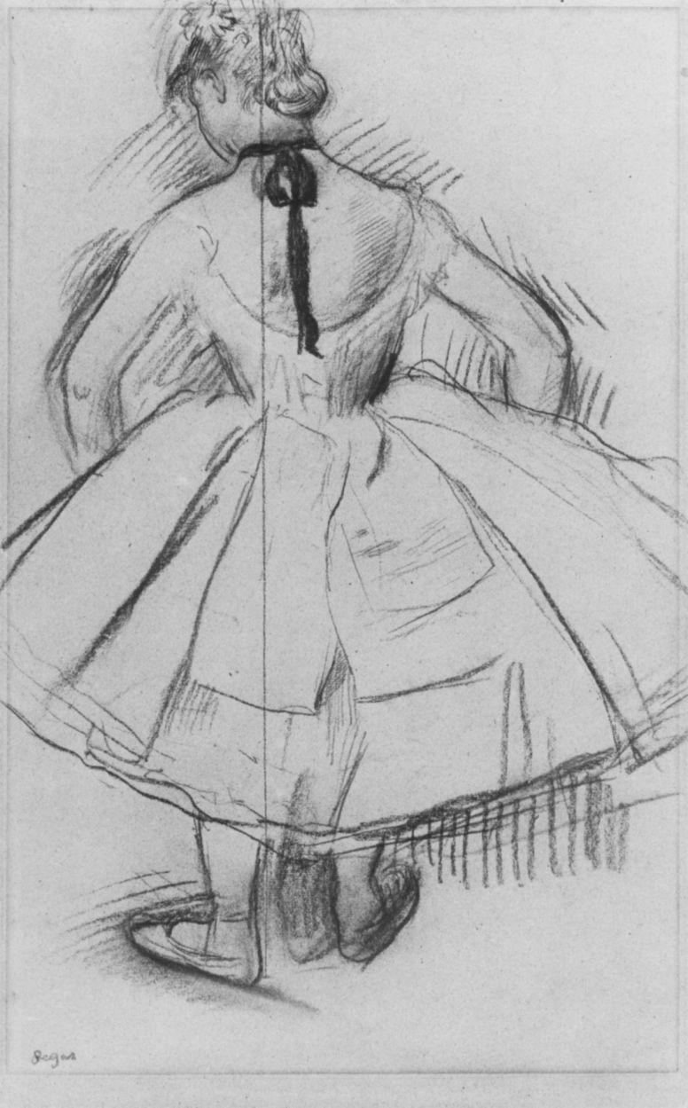 Edgar Degas. A dancer from the back