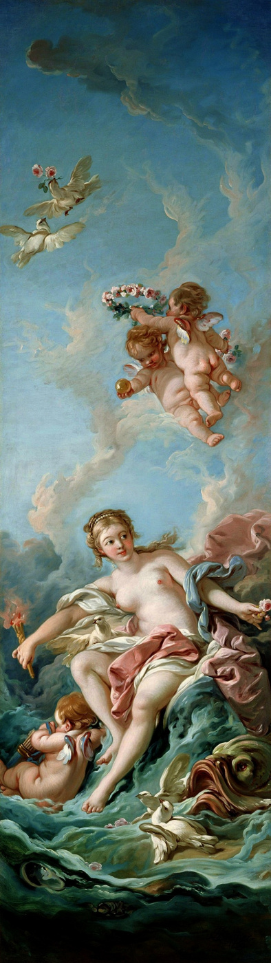 Francois Boucher. Venus on the wave