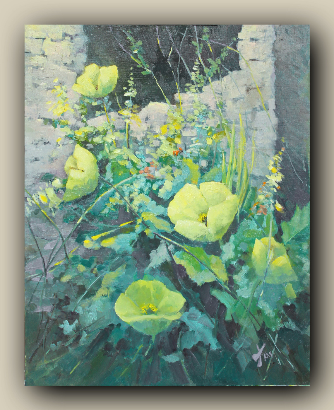 Marina sokolova. Yellow poppies, author's work