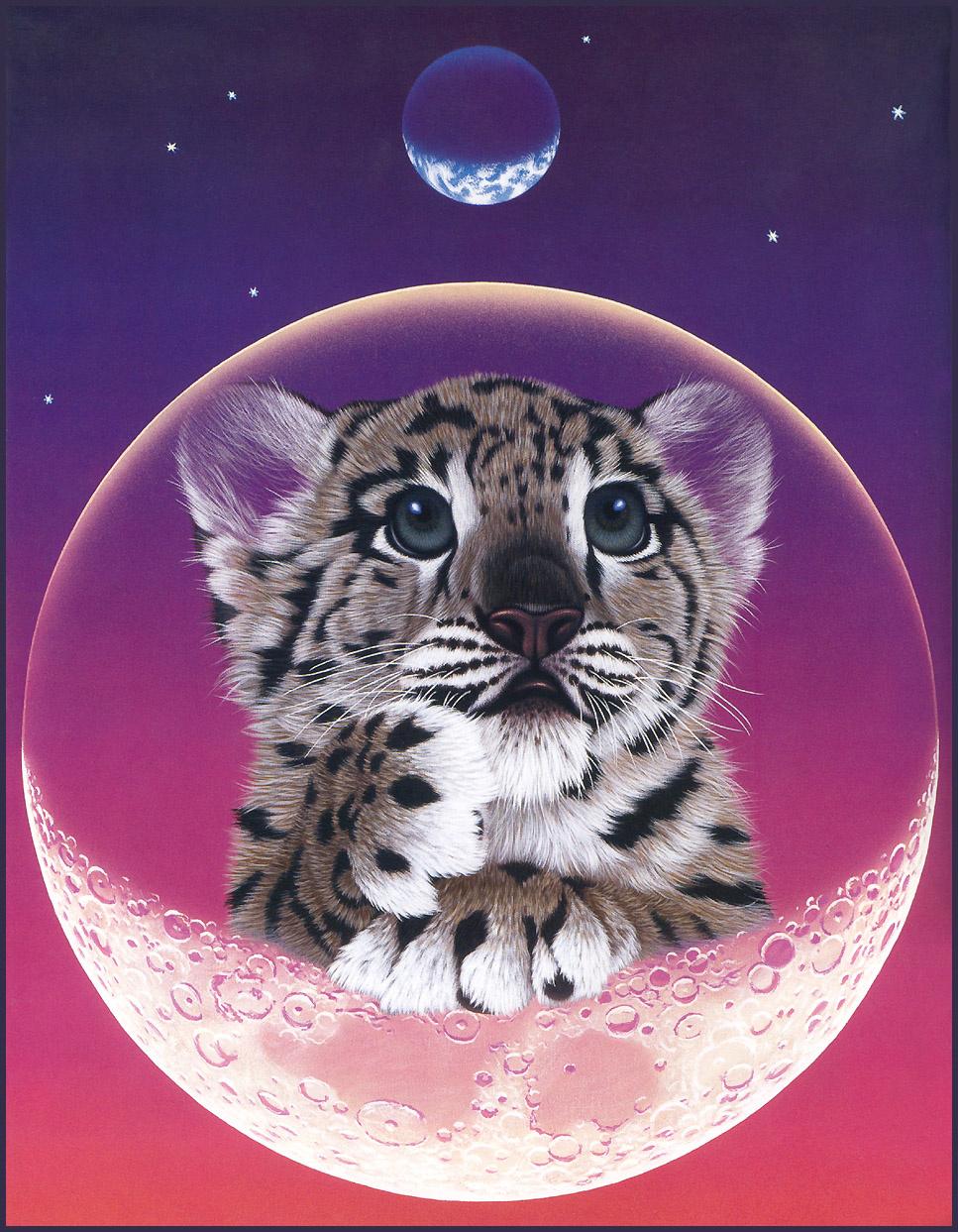 Сделать, открытки с изображение тигренка