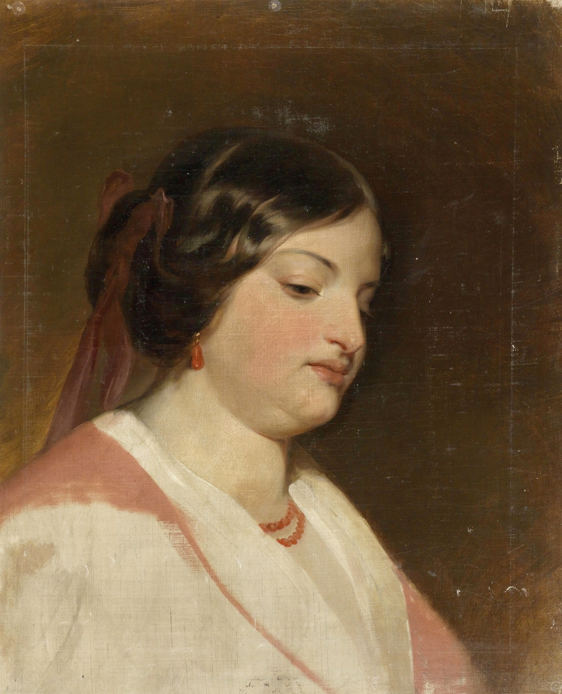 Friedrich von Amerling. Sketch of the portrait of the ladies Hantl.