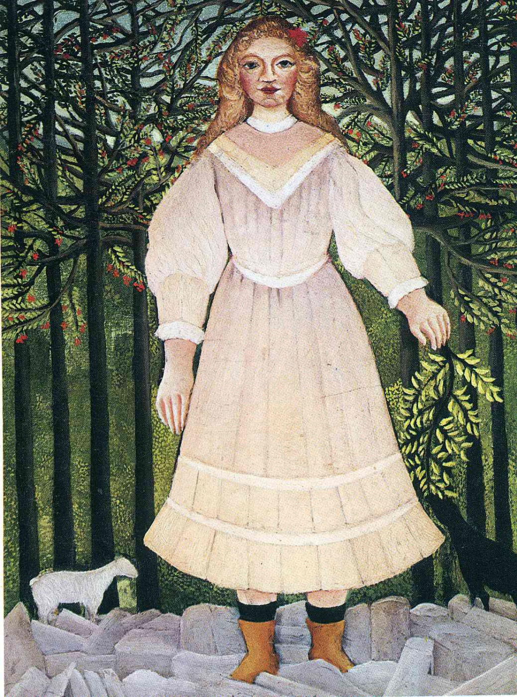 Henri Rousseau. Young girl