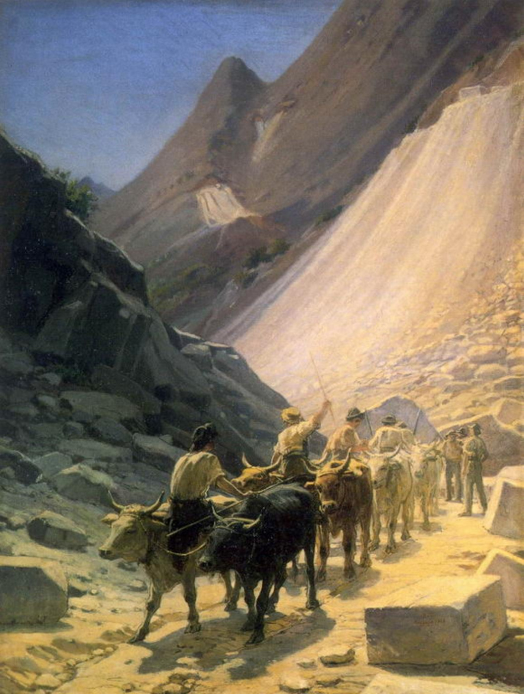 Nikolai Nikolaevich Ge. Transportation of marble at Carrara