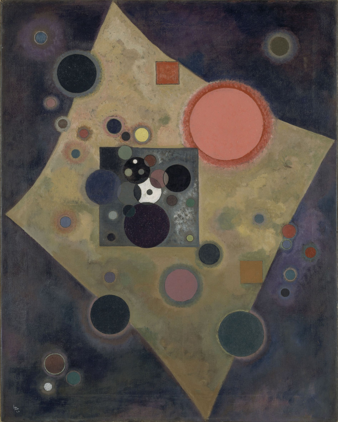 Wassily Kandinsky. Accent in pink