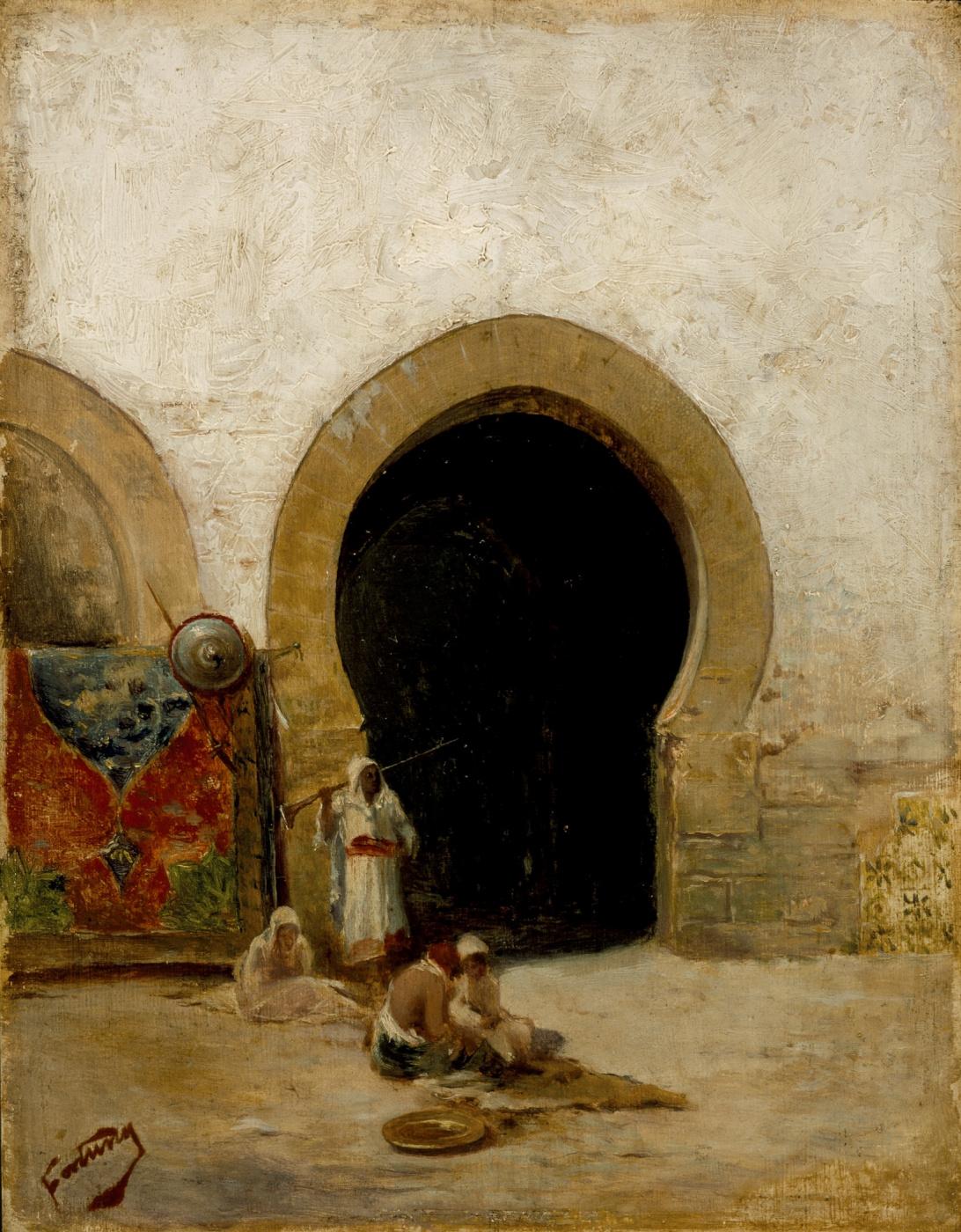 Mariano Fortuny y Marsal. Gate
