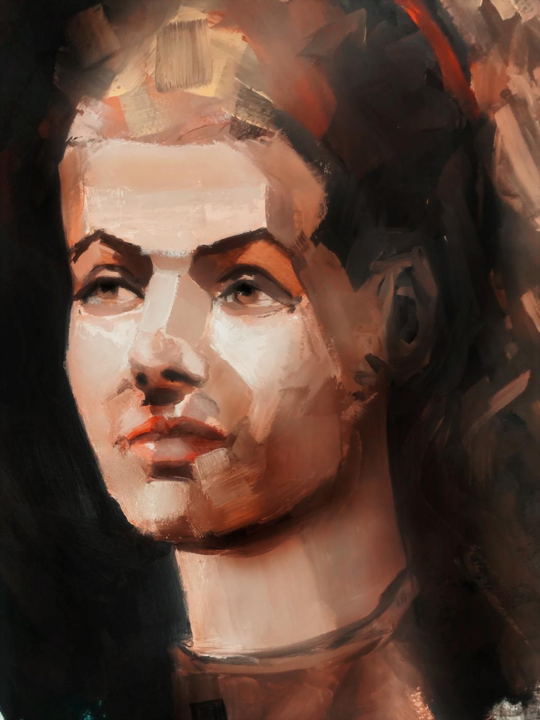 Irina Tabolova. Female portrait