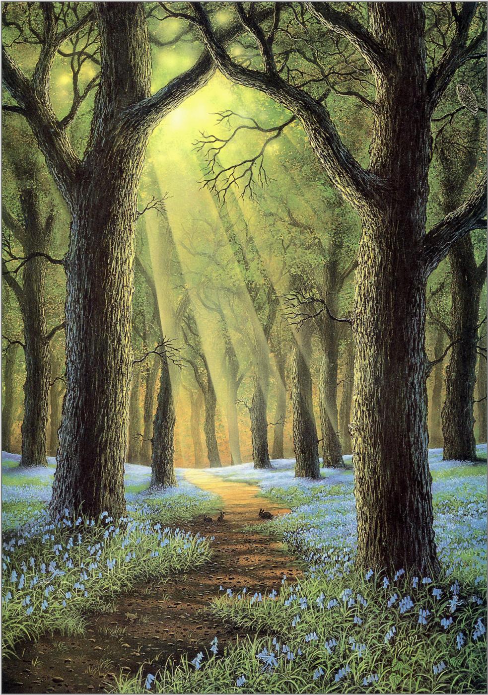 Картинка весна лес анимация, сделать открытки дню