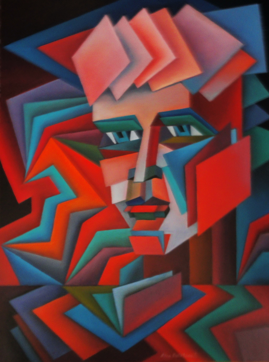 Nina Tokhtaman Valetova. Made from rectangles