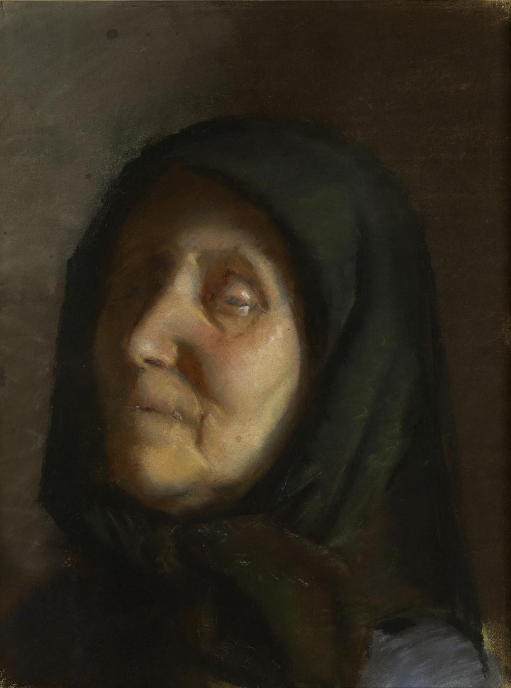 Anna Anchor. Blind woman