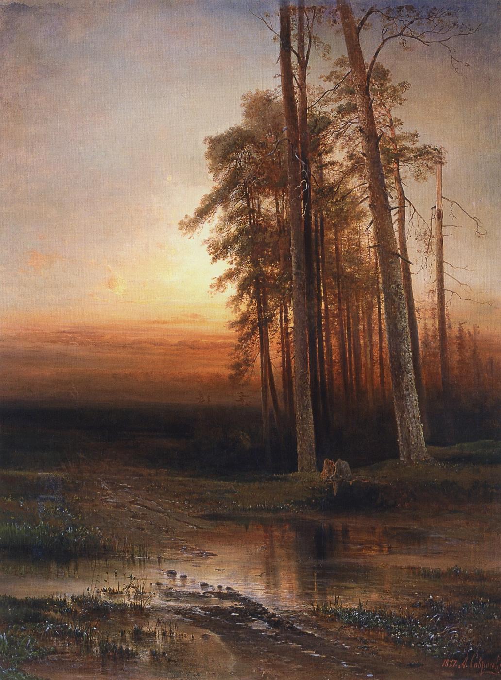 Alexey Savrasov. The evening